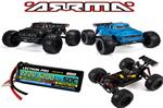 Arrma Notorious 2018 6S BLX 1/8 Monster Stunt Truck BUNDLE BLUE ONLY