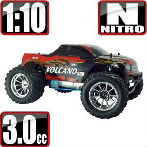 Volcano S30 1/10 Scale Nitro 4x4 Monster Truck- Blue