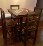 "Utah High Bar 32""x 32"" Table with 4 High Chairs"