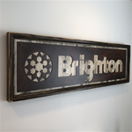 Framed Rustic White Brighton-rust 16x50