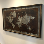 24x36 Rustic Grey World Map