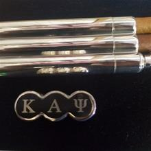 Fraternity Flask with Cigar Tubes