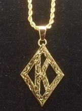 Kappa Diamond Pendant -Gold Cut