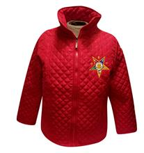 Quilted Jacket in Red