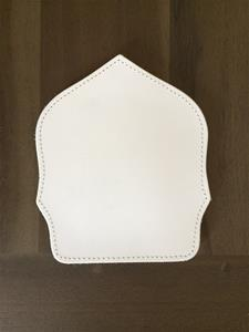 6 inch traditional blank shield flat bottom