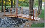 Redwood or Red Cedar Bridges with Rope Rails 4 ft to 12 ft long