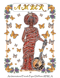 Amber ~ PJ's International Friends Paper Doll from AFRICA