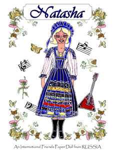 Natasha ~ PJ's International Friends Paper Doll from RUSSIA