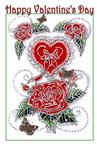 Valentine ~ Roses 'n' Hearts Red