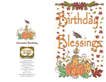 Birthday Blessings Greeting Card