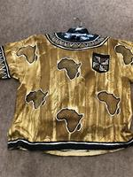 Hand Painted Mud Cloth T-Shirt Made in Ghana