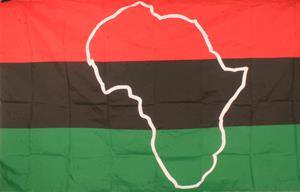 African Flag with Continent