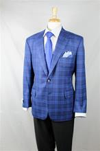 A Smith Clothiers Blue Windowpane Sport Coat