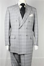 A Smith Clothiers gray plaid double breasted suit