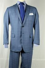A Smith Clothiers Blue plaid stripe suit