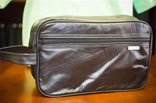 Black Leather Shave Bag