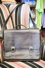 Dark Brown Leather laptop Briefcase (messenger style)