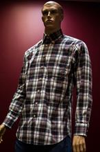 Scott Barber red/ navy Plaid Button Down