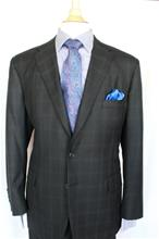 A Smith Clothiers Black Windowpane 2 pc Suit