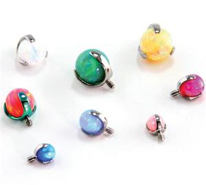 Opal Ball Threaded End