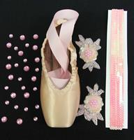 Single Decorative Pointe Shoe Kit (Sequin Roses)