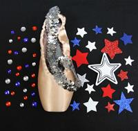Single Decorative Pointe Shoe Kit (Stars and Stripes)