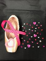 Single Decorative Pointe Shoe Kit (Pink Love)