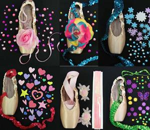 Pointe Shoe Decorating