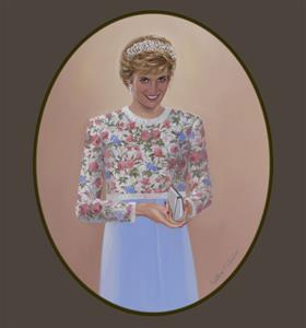 """Princess Diana Flowered Top"""