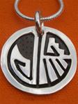 "013 - Cherokee Sterling Silver ""Journey"" Necklace (0001)"