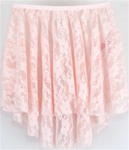 C28486 - Sweet Lace Pull on High-Low Skirt