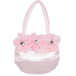 CBG28264 - Purse with 3 flower and Stone round Shape