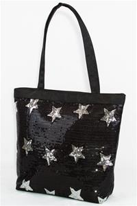 CBG28287 - Tote Bag with Sequined Stars