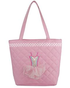 CBG28336-LPK - Tote Bag Quilted with Sequin Ballerina Tutu Dress