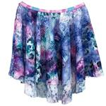 PL1011 - Tie-Dye High-Low Pull on Skirt