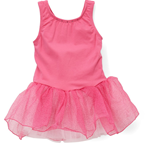 PL1004 - Glitter Dust Tank Leotard with Tutu Skirt & Heart Cut-Out Detail