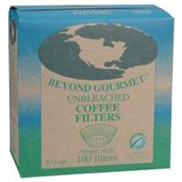 Beyond Gourmet, Unbleached Coffee Filters, basket style (100 each per box)