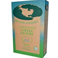Beyond Gourmet, #4 Disposable Cone Coffee Filters.