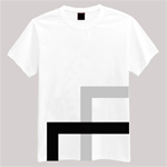 Unisex T-Shirt With Blue/Gray/Black With Overlapping Rectangle Graphics