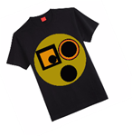 Unisex T-Shirt With Yellow Circle Graphic