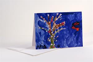 """Flower Tree"" greeting card set"