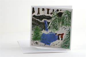 """Winter Fox"" greeting card set"
