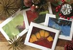 Hand Painted Note Cards - Holiday Set (Qty5)