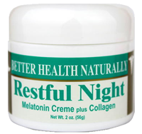 "Restful Night Melatonin Creme plus Collagen (2 oz.) ""December Special!"""