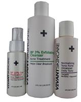 Acne Kit 2 (BP Cleanser, Normalizing Tonic Forte, BP Gel)