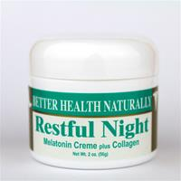 "Restful Night Melatonin Creme plus Collagen (2 oz.) ""July Special!"""