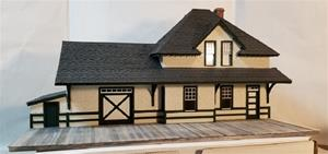 CNR 3rd Class Station Kit (O-scale)- Stucco Finish