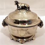 A beautiful Medallion coin silver butter dish, by Gorham, Rhode Island, c.1860-65