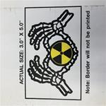 "3""x5"" White Mid Michigan College Radiography Decal"
