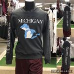 Michigan Great Lakes State Crewneck sweatshirt-BLACKHEATHER